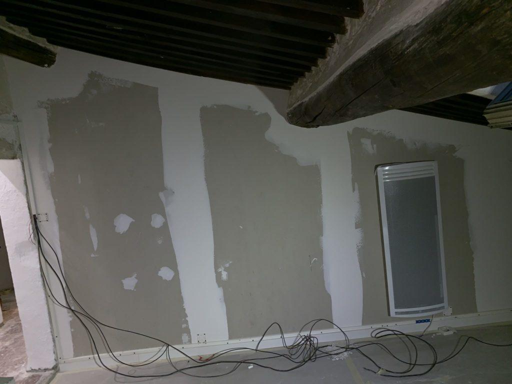 Pendant la rénovation : salle de bain