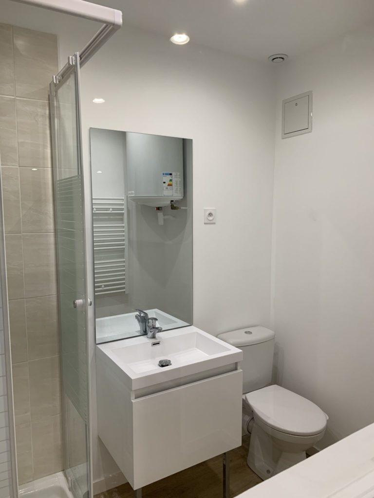 Après la rénovation : salle de bain